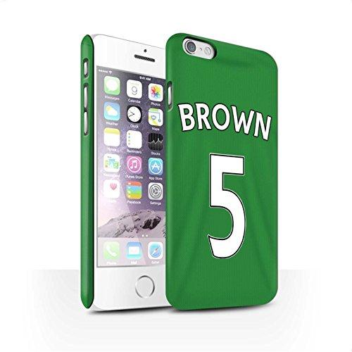 Offiziell Sunderland AFC Hülle / Matte Snap-On Case für Apple iPhone 6S / Pack 24pcs Muster / SAFC Trikot Away 15/16 Kollektion Brown