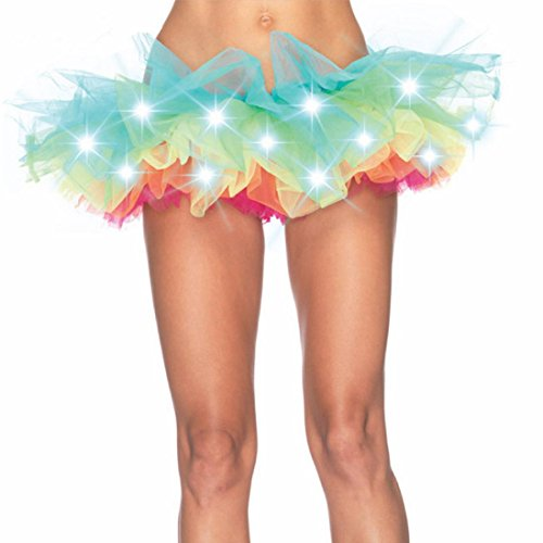 ock LED Bühne Kostüme Nachtclub Beleuchtung Leuchtende Party Gaze Flauschigen Rock (M /Gr 38, Mehrfarbig) (Halloween Kleid Tumblr)