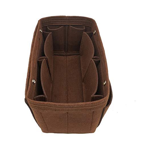 LEXSION Damen Filz-Geldbeutel-organisator, Multi Pocket Bag in Bag Organizer für Tote & Handbag Shaper x-Large schwarz (Louis Vuitton Ski)