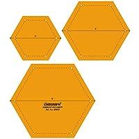 Plantilla de regular la escala de forma de hexágono Quilting Patchwork Conjunto de 3 piezas