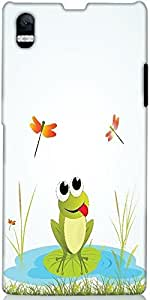 Snoogg Background With Frog Designer Protective Back Case Cover For Sony Xper...