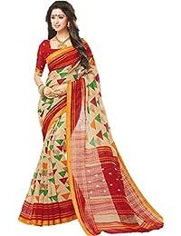 GiniGold Women's Cotton Silk Saree With Blouse Piece (SAMUDRIKA-6_Multicolored)