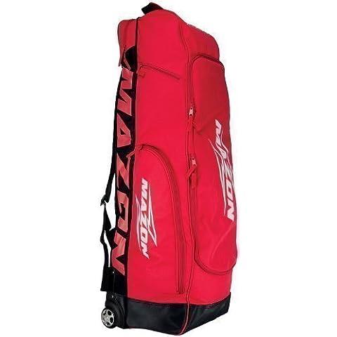 Mazon Tour Plus Combo - Bolsa con ruedas para material de hockey rojo rosso