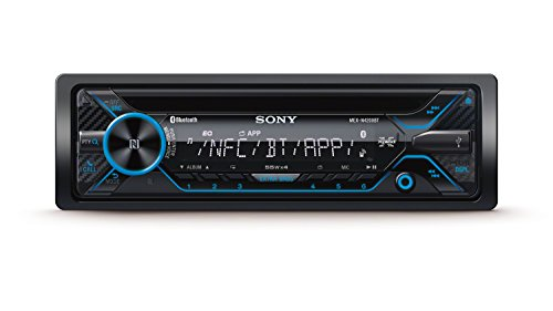 Sony mexn420 0bt auto Radio con Dual Bluetooth (lettore CD, NFC, 2 X Bluetooth, USB/AUX, Apple iPod/iPhone Control, 4 X 55 Watt) nero/illuminazione: blu