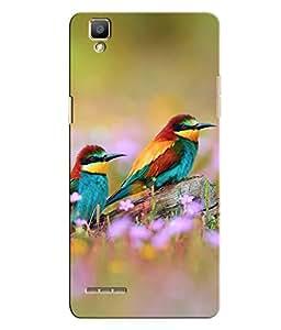 Citydreamz Birds\Jungle Hard Polycarbonate Designer Back Case Cover For Oppo F1