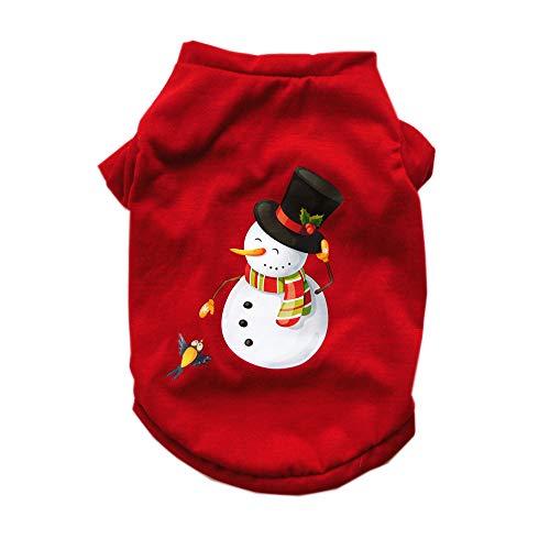 XGPT Hunde/Katzen/Haustiere Weste Hundekleidung Weihnachten/Cartoon Rotes Baumwoll Kostüm Für Haustiere Weibliche Party/Urlaub,M