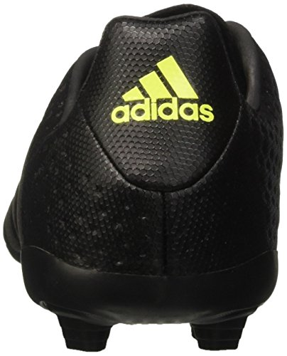 adidas Ace 16.4 Fxg, Chaussures de Football Mixte Enfant Noir (Core Black/Core Black/Solar Yellow)