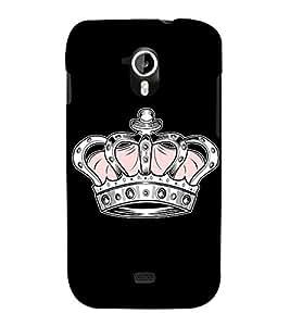 Princess Queen Crown 3D Hard Polycarbonate Designer Back Case Cover for Micromax Canvas HD A116 :: Micromax Canvas HD Plus A116Q