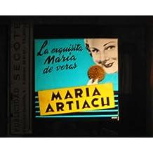 Antigua PUBLICIDAD EN CRISTAL PARA CINES : Galletas María Artiach