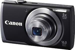 Canon PowerShot A3500 Digitalkamera (16 Megapixel, 5-fach opt. Zoom, 7,6 cm (3 Zoll) Display, bildstabilisiert, DIGIC 4 mit iSAPS) schwarz