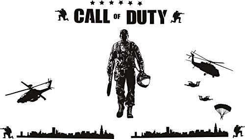 wd-wall sticker Wandaufkleber für Kinderzimmer, Motiv Armee, Militär Soldat für Kinderzimmer, Vinyl-Aufkleber und -Dekoration -