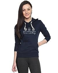 Campus Sutra Womens Printed Navy Blue Sweatshirt (AW15_H_W_PBF_BU_S)
