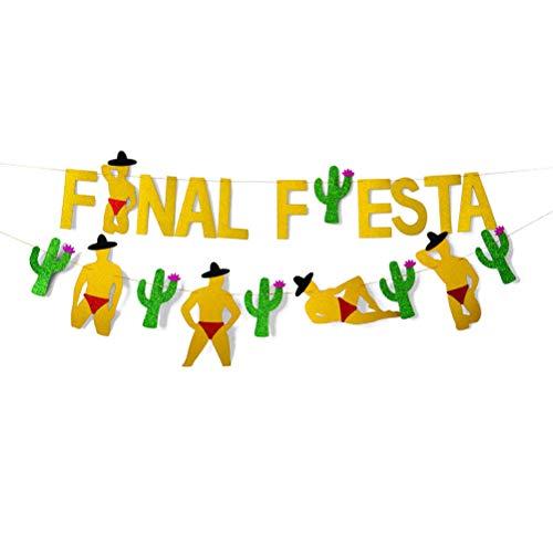 Rivadal 2 Stücke Final Fiesta Banner Bachelorette Banner Last Fiesta Banner für Party Engagement Brautdusche Dekorationen