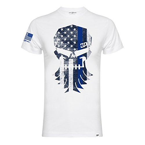 DPG Diesel Power Gear T-Shirt Thin Blue Line White-M