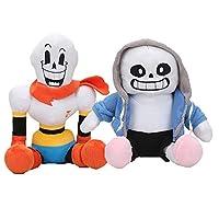 EU_LevinArt 2pcs 30cm anime Undertale Plush Toys Undertale Sans Papyrus Asriel Toriel Stuffed Plush Toys Doll for Kids Children gift