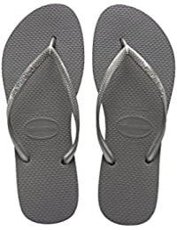 Havaianas Sandals and Slippers for Women, Colour Grey, Brand, Model Sandals and Slippers for Women Slim Grey