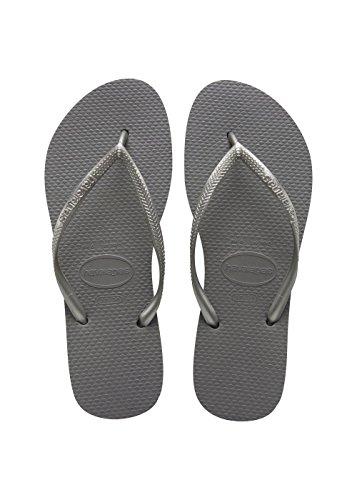 Havaianas Slim Infradito Donna, Grigio (Steel Grey 5178), 37/38 EU (35/36 Brazilian)