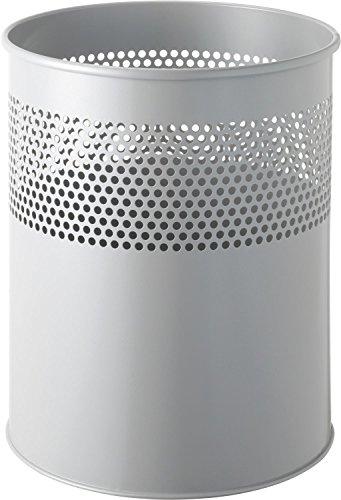 "Helit H2515787 - Papierkorb ""the dot"" 15L, mittelgrau"
