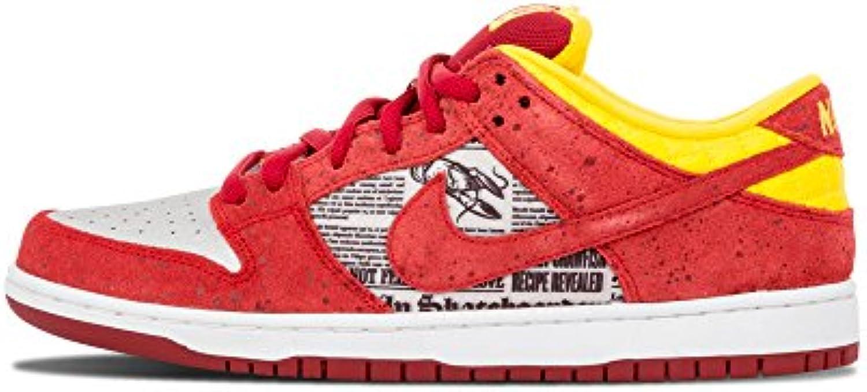 Nike Mens Dunk Low Premium SB SB SB Crawfish Action rosso Metallic argento Suede Skateboarding Dimensione 11.5   Forma elegante  5004de