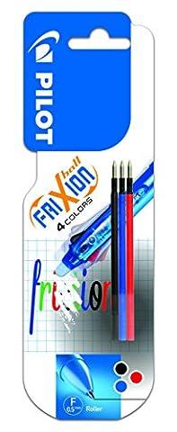 Pilot Recharges pour stylo Frixion 4couleurs Rollerball rétractable et effaçable - Noir/bleu/rouge