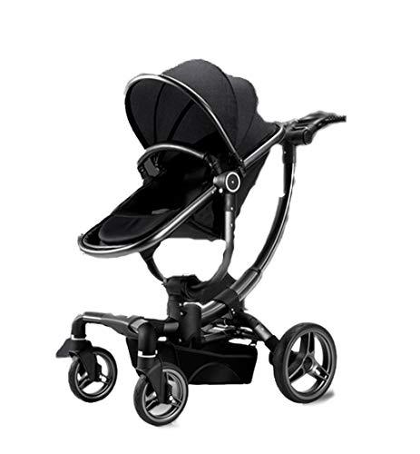Kinderwagen, Kann StüTzenden Schock Folding Folding Stroller Sitzen, Kann Drehen, One-Step-Faltung, Geeignet FüR 0-36 Monat Baby