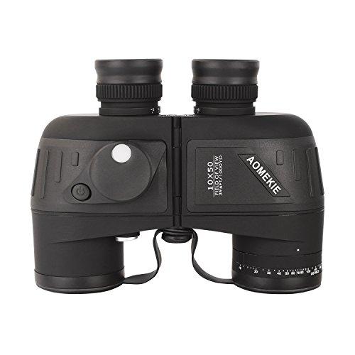 Aomekie Militär Marine Fernglas mit Nachtsicht Entfernungsmesser und Kompass 10x50 HD Wasserdicht...