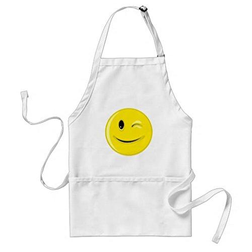 Tablier de cuisine pour femme oeil Smiley Pattern tabliers pour filles cou réglable Attaches de tour de taille Tablier de cuisine pour homme