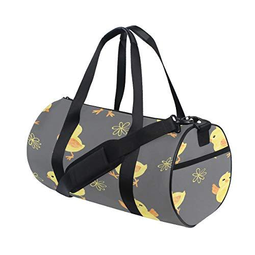Rad-küken (Baby Little Yellow Chichens Cute Animal Benutzerdefinierte Multi Leichte Große Yoga Gym Totes Handtasche Reise Canvas Seesäcke mit Schulter Crossbody Fitness Gepäck für Jungen Mädchen Herren Damen)
