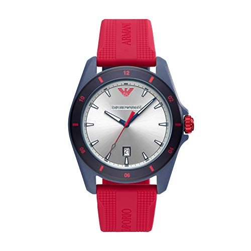 Emporio Armani Reloj Analógico para Hombre de Cuarzo con Correa en Silicona AR11219