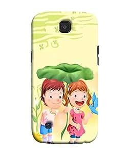 Fuson Designer Back Case Cover for LG K3 :: LG K3 Dual K100 LS450 (Love Couple Love Pair Girl And Boy In Love)