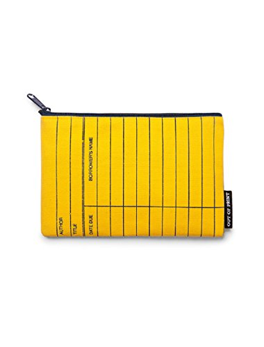 Out of Print Library Card Pouch Yellow