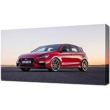 2018 Hyundai i30 N V10 - Reproducción Lienzo - Arte Enmarcado Impresión ...
