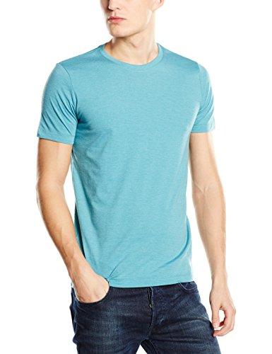 Stedman Apparel Herren T-Shirt Luke (Crew Neck)/st9800 Premium Blau - Turquoise (Aqua Heather)