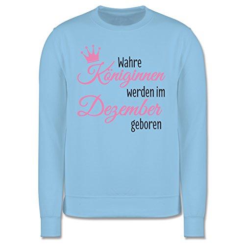 Geburtstag - Wahre Königinnen werden im Dezember geboren - Herren Premium Pullover Hellblau