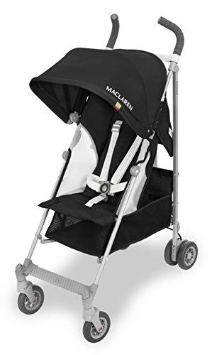 Maclaren Globetrotter - Silla de paseo, color blanco y negro