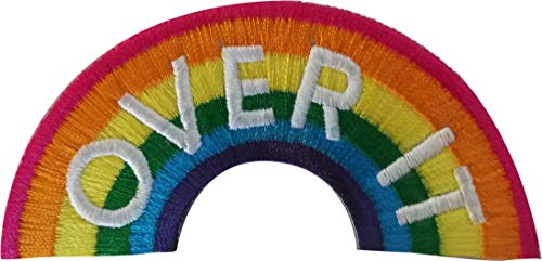 C&D Visionary Rainbows Over It - Sew Iron on, Embroidered Original Artwork - Patch - 1.75' X 3.7'