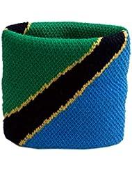 Schweißband Motiv Fahne / Flagge Tansania + gratis Aufkleber, Flaggenfritze®