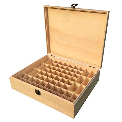 waterfail 68-Grid Essential Oil Box Ätherisches Öl aus Holz - Multi-Square Essential Oil Box - Für Liebhaber ätherischer Öle
