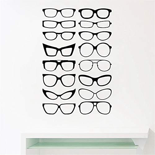 Brillen Specs Rahmen Vinyl Wandaufkleber, Brillen Rahmen Kunst Decals Optische Shop Optometrist Büro Fenster Tür Decor 3 86 * 56 cm