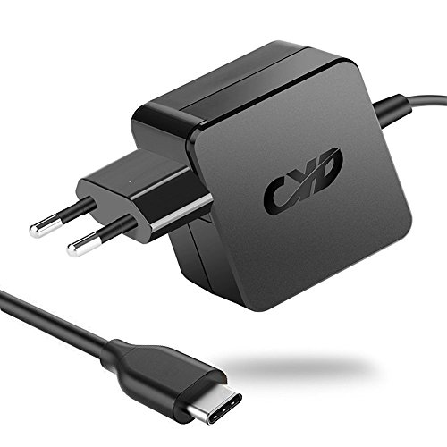 CYD 45W 65W PowerFast-Caricatore-Notebook-Alimentatore per Lenovo Yoga 5 HP 173C Xiaomi Air 12 13 Core M 7y30 i5-6200U i7-6500U Air 13 Laptop USB Tipo-C NoteBook PD Adattatore,8.2 piedi (2.5 m) Laptop-CA-Adattatore-Caricabatterie-Caricatori-Cav