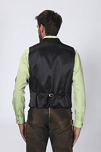 Stockerpoint - Herren Trachten Weste in verschiedenen Farbtönen, Calzado, Größe:52, Farbe:Tanne - 4