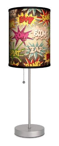 lamp-in-a-box sps-var-vnbam verschiedene Vintage Comics Bam Pow Sport Lampe, 17,8x 17,8x 50,8cm Silber (Box-schatten-tischleuchte)