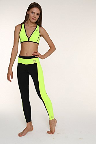 glidesoul Damen 0,5 mm Yoga Bikini Gelb - Lemon/Black