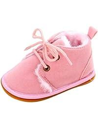 Botas de bebé, Bluestercool zapatos de bebé invierno antideslizante zapatos bebe primeros pasos bebé niña niño suela del zapato goma suave infantil zapatos