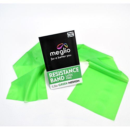 Meglio Banda Elástica Calidad Premium sin Látex para la Movilidad, Fuerza y rehabilitación 2 m – Manual Incluido