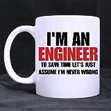 Ich bin ein Ingenieur Süße Tasse Kaffee Keramik Inspirierende Geschenke für Kinder Frauen Mädchen Geburtstag Geschenke