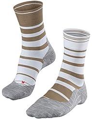FALKE Ru4 Stripe - Calcetines de Running para Hombre, Hombre, 16727, White (2007), 39-41