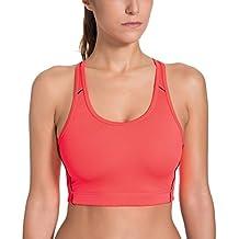 La Isla Damen Medium Impact Sport BH - Glänzend Basic,Ohne Bügel Und Einlagen