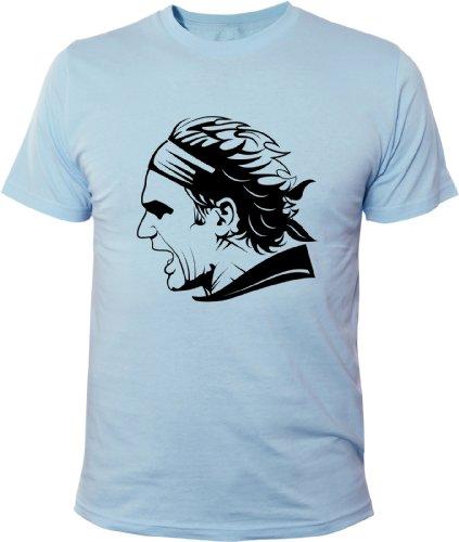 Mister Merchandise T-Shirt Roger Federer - Uomo Maglietta S-XXL -