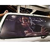 xj Autocollant de Voiture 3D Transparent Halloween Automobile Arrière Sticker de vitre arrière Film Vinyle Film de Voiture d'horreur